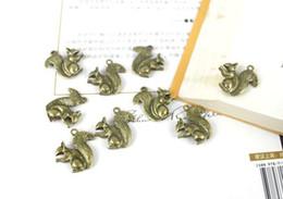 Wholesale Bronze Squirrel - 120PCS Antiqued Bronze Squirrel Charm A20244B