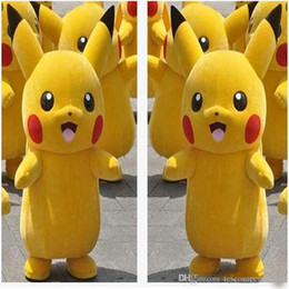 Wholesale Cartoon Characters Suits - 2017 HOT new High Quality Pikachu Mascot Costume Popular Cartoon Character Costume For Adult Fancy Dress Party Suit