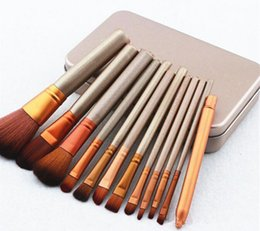Wholesale Ups Power Metal - 12pcs per set Power Brush Makeup Brushes Professional Make Up Brush kit Maquiagem Beauty eye FaceTool Metal Box