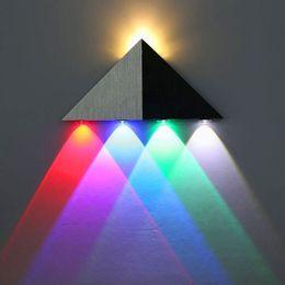 5W Triangle LED Applique Murale LED Couloir Lumière En Aluminium Applique Décorative Rétro-Éclairage Balcon Lumières Multicolore Lumière 1 PC ? partir de fabricateur