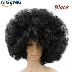 Wholesale Short Hair Wigs Fluffy Synthetic - 100% New High Quality Fashion Picture full lace wigs Black Synthetic Hair Short Wavy Curly Heat Resistant Hair Cosplay Fluffy Wigs
