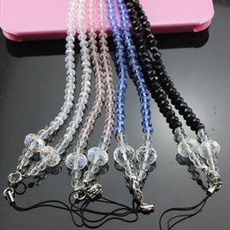 Wholesale Bead Mobile Phone Chain - 2017 New fashion Crystal Cell Phone Straps Crystal jewelry mobile phone chain neck crystal beads factory direct sales SJ003