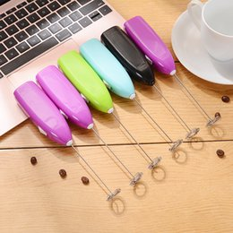 Wholesale Electric Beater Whisk - Egg Tools Hot Drinks Milk Frother Foamer Whisk Mixer Stirrer Egg Beater Electric Mini Handle Egg Tools Kitchen Tools