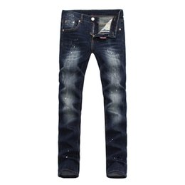 Wholesale Popular Jeans - Fashion Men's Pants High-quality Jeans Slim Men's Pants Europe and the United States popular brand to do the old style pants