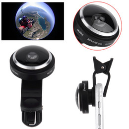 Wholesale Digital Camera Lens Phone - Wholesale- New 235 Degree Super PearlEye Lens Clip on For Digital Camera Mobile Phone Wholesale