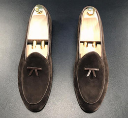 Wholesale Wedge Moccasins - 2018 British Designer Men Vintage Bowtie Homecoming party dress oxford wedding shoes flats loafers male moccasins 509