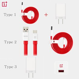 Wholesale Three One Adapter - Wholesale-Genuine Oneplus 3 Dash Charger Adapter Type C Data Cable Oneplus Three A3000 Quick Charging Original Official One Plus Parts