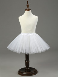 Wholesale Kids Ballet Dresses Sale - Hot Sale Ball Gown Kids Petticoat 3 Layers Ballet Short Dress White Black Red Crinoline Girl Dress Petticoat Underskirt Gowns 2017