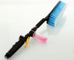 Wholesale Car Washing Foam Gun - Wholesale-Car Wash Brush Retractable Long Handle Switch With Water Flow Foam Gun Soft-Bristle Auto Clean Tools
