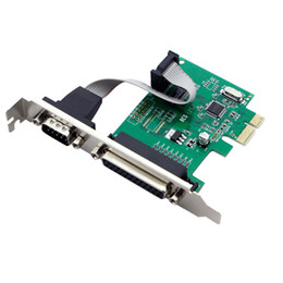 Wholesale Rs232 Com - RS232 RS-232 Serial Port COM & DB25 Printer Parallel Port LPT to PCI-E PCI Express Card Adapter Converter WCH382 Chip