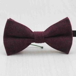 Wholesale Girls Bowties - Fashion Cotton Bowties For Children Wedding Party Suits Bow Ties Slim Banquet Kids Collar Tie Boys Girl Collar Accessories