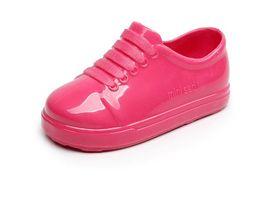 Wholesale Jelly Shoes Laces - Fashion Designer Mini Melissa Girls Shoes Toddler Kids Dress Sandals Flat Summer 2017 Children Infantil Silver Black Jelly Sandals