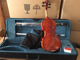 Wholesale Rosin Violin Free Shipping - Wholesale-Free Shipping FULL SIZE 4 4 Professional violin with Pernambruco bow and Oblong shaped case, Rosin