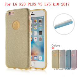 Wholesale Stylus Soft Rubber - For LG K20 PLUS V5 LV5 LG Stylo 3 plus stylus 3 clear rubber soft glitter stickers TPU + PC phone protection shell packing