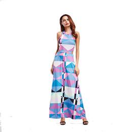 Wholesale Linen Club Clothes - 2017 Women Summer Sex Long Dress Flamingo Women Hollow Out Boho Maxi Linen Dresses for Women Ankle-Length Online Clothes Shop
