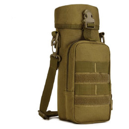 Wholesale Nylon Carrier Bags - Wholesale 750ml Tactical Molle Water Bottle Pouch Hydration Bag Carrier Insulated Heat Cold Water Kettle Shoulder Bag Free Shipping