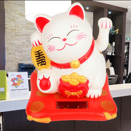 Wholesale Cat Swing - Lucky Cat ornaments solar cat swing decoration business gifts Home Furnishing birthday gift