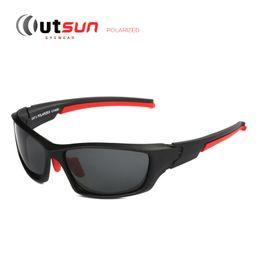OUTSUN 2017 поляризованных солнцезащитных очков Мужчины/Женщины Марка дизайнер регулируемая нос Pad из двери солнцезащитные очки UV400 камуфляж случае от
