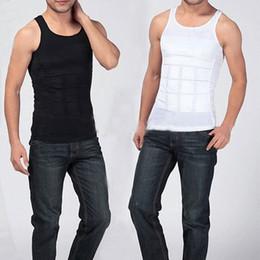 Wholesale Long Corsets Wholesale - Wholesale- Men's Slimming Body Shaper Belly Fatty Underwear Vest Shirt Corset Compression