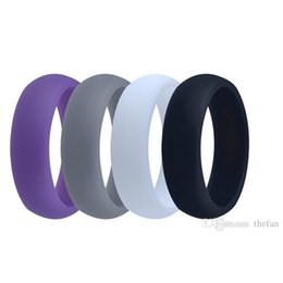 Wholesale Indian Birthday Gifts - Silicone Wedding Band Anniversary Birthday Father's Day Gift Ring Multicolor Comfortable Design Wedding Ring for Man Wholesale