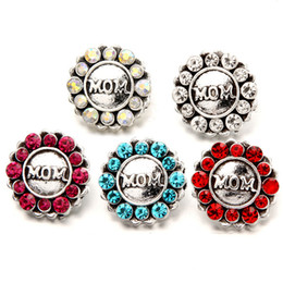 Wholesale Holiday Places - 10PCS 18 mm snap button, rhinestone MOM fashion jewelry in different places have different charms