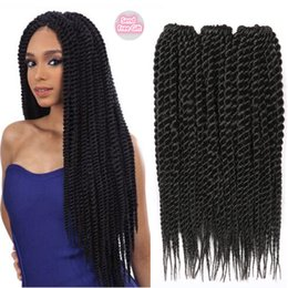 Wholesale Deep Wave Synthetic Weave - Braiding Hairstyle For Black Hair Crochet Kanekalon Synthetic Braiding Hair Extensions Afro Kinky Curly Havana Mambo Twist Braiding Hair