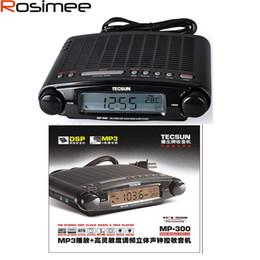 Wholesale Portable Desktop Clock - Wholesale-TECSUN MP-300 Radio FM Stereo DSP Radio USB MP3 Player Desktop Clock ATS Alarm Portable Radio Receiver Y4137A LED Display