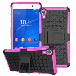 Wholesale Tpu Case For Sony M5 - Hybrid Shockproof Spiderman Duty Durable TPU PC Robot Kickstand Hard Case Cover for Sony M4 Aqua M5 E4 E4G X XA