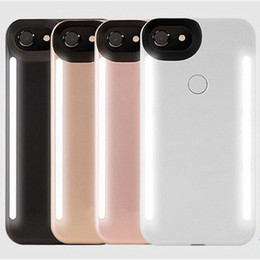 Wholesale Led Plastic Covers - LED Light Phone Case for iPhone 8 7 6S 6 Plus Selfie Flashlight Photograph Luminous Cover for iPhone7 iPhone8 Third Generation