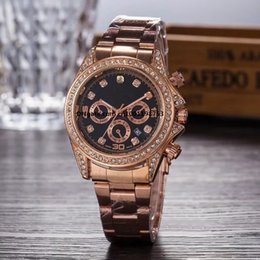 Wholesale Wrist Watch Movements Japan Quartz - Famous brand M wrist watch Japan Gold Movement M Classic Metal Watch+ 4 colors available men women gold stainless steel brand fashion watch