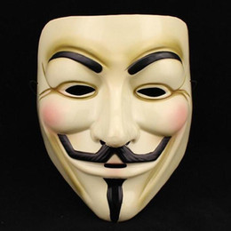 Wholesale Horror Guy - Hot Selling Party Masks V for Vendetta Mask Anonymous Guy Fawkes Fancy Dress Adult Costume Accessory Party Cosplay Masks