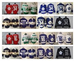 Wholesale Premier Men - Men Toronto Maple Leafs 34 Auston Matthews 16 Mitch Marner Red 100th 2017 Centennial Classic Premier Jersey stitched