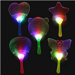 2019 ventilatori a mano in plastica Moda LED cinese ventilatore a mano in plastica colorata Light Up lampeggiante per bambini Giocattoli Costume Party Decoration Pubblicità regalo ZA3494 sconti ventilatori a mano in plastica