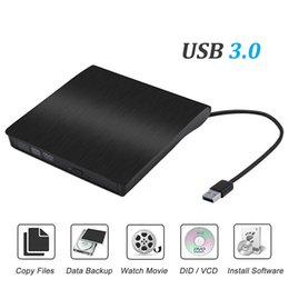 Wholesale Usb Dvd Slim - External CD Drive USB3.0 Portable Slim External DVD Drive,External DVD CD Drive &CD DVD+ -RW Writer Rewriter Player High Speed Data Transfer