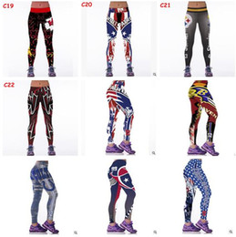 Wholesale Wholesale Sports Tights - Women Leggings 2017 Football Club Womens 3d Galaxy Printed Leggings for Women Workout Tracksuit Yoga Stretch Tights Sport Leggings 34