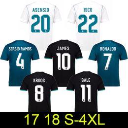 Wholesale Champions Football - 2017 2018 Champions League Real Madrid Home Away 3rd Soccer Jerseys RONALDO Asensio SERGIO RAMOS uniform ISCO MODRIC Kroos Football Shirts