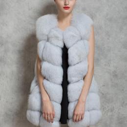 2018 Neue Frauen Winter Ärmellos Faux Fuchspelz Leder Dicker Mantel Oberbekleidung Weste Plus Größe Gepolsterte Jacke Mantel Parka Q1778 von Fabrikanten