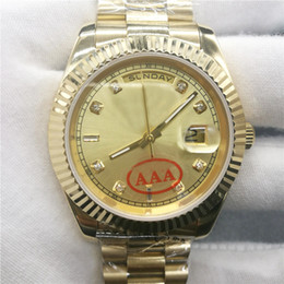 Wholesale Silver Mechanical Watch - wholesale AAA Luxury brand watch DAY DATE mechanical 40MM mens royal oaks aaa watch Stainless steel bezel Stainless steel strap Wristwatches