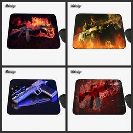 Wholesale Game Counters - Computer Game Table Pad Super CSGO Counter Strike Gun Series Photo Print Rubber Rectangle Mouse Pad PC Computer Rubber Pad