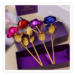 Matrimonio 24 K Lamina d'oro Fiori Placcato Rose Wedding Party Proporre Decorazione Golden Rose Decor Fiore Flores Artificiales Wedding Decoracion da