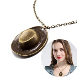 Wholesale Vintage Winter Pendant - Punk Style Vintage Collar Necklace Cute Pirate Hat Pendant Necklace Fashion Autumn and Winter Sweater Accessories Ancient Bronze Jewelry
