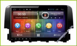 Wholesale Dvr Radio - Honda Civic 2015-2017 Quad Core Android 6.0 Car DVD RADIO GPS With 3G 4G WiFi Support OBD DVR