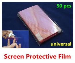 защитная пленка для экрана мобильного телефона Скидка Wholesale- 50pcs Universal Clear Screen Protector 3 Layer Composite Protective Film Grid for Mobile Phone GPS MP4 Tablet PC