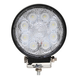 Wholesale Offroad Motorcycle Headlight - Round 4'' inch 24W led driving light 1680LM IP67 waterproof rate offroad lamp stainless steel bracket golf motorcycle headlight