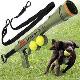 Wholesale Dog Training Dhl - New pet toys dog ball launcher dog training toys tennis launcher comes with two tennis retail box DHL