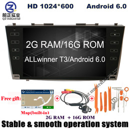 Wholesale Camry Android Dvd - HD 1024*600 2G 16G Android 6.0 for Toyota Camry 40 Aurion 2006-2011 car dvd player with GPS WIFI 3G 4G Radio SUB SWC BT navigation free map