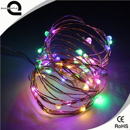 Wholesale Pa Lights - Wholesale- Quadruple IP65 Waterproof 2M 5M 10M LED Copper Wire String Fairy Light Chirstmas String lights Garland For Wedding Christmas Pa