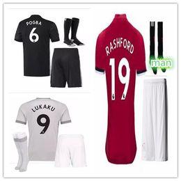 Wholesale Good Football Jerseys - Good quality 17 18 POGBA ibrahimovic Utd Soccer Jerseys 17 18 United home awa LUKAKU Rashford MATA Mkhitaryan football shirt