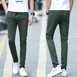 Wholesale Fast Drying Pants - Hot 2017 spring men's jogging pants casual pants solid ankle young men's trousers fast dry pants (Asian size) BY918