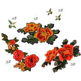 Wholesale Cute Flowers Embroidery - DIY flower embroidery stickers creative flowers patch cute accessories life custom decals sewing patch